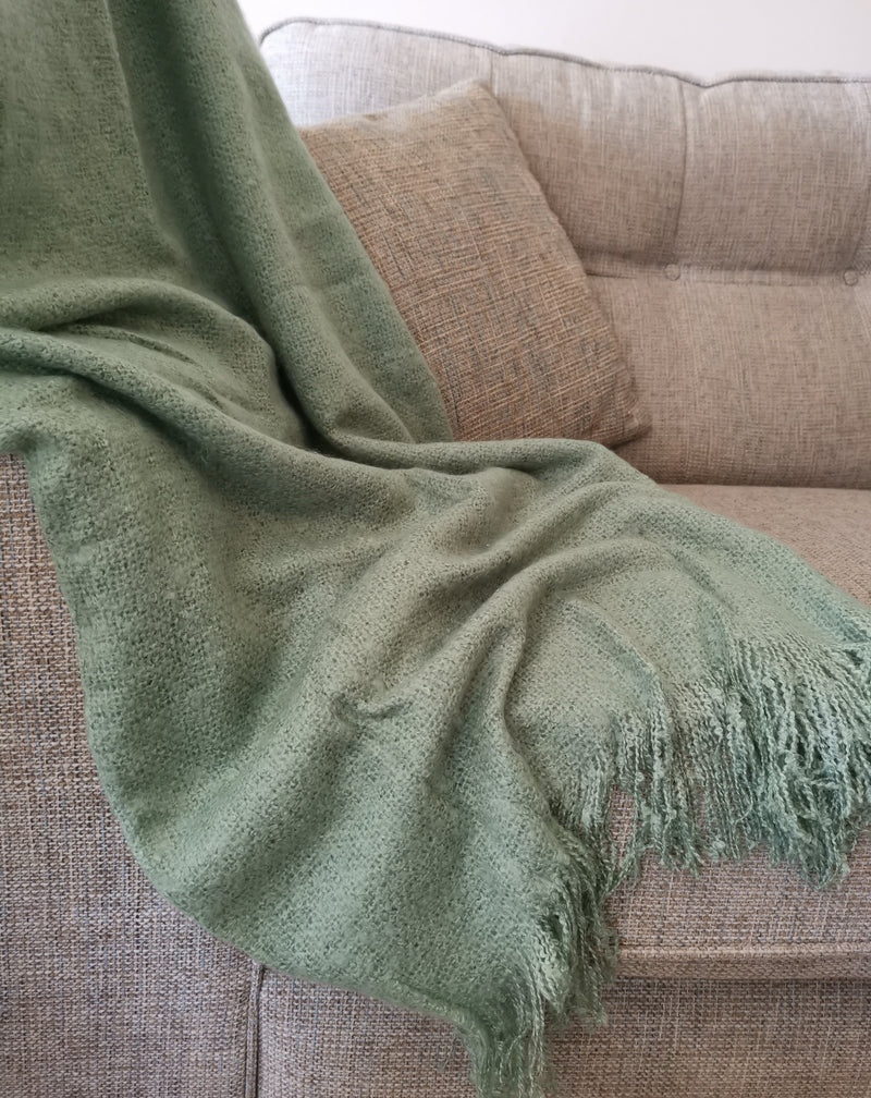 Comfy Green Throw - TBI