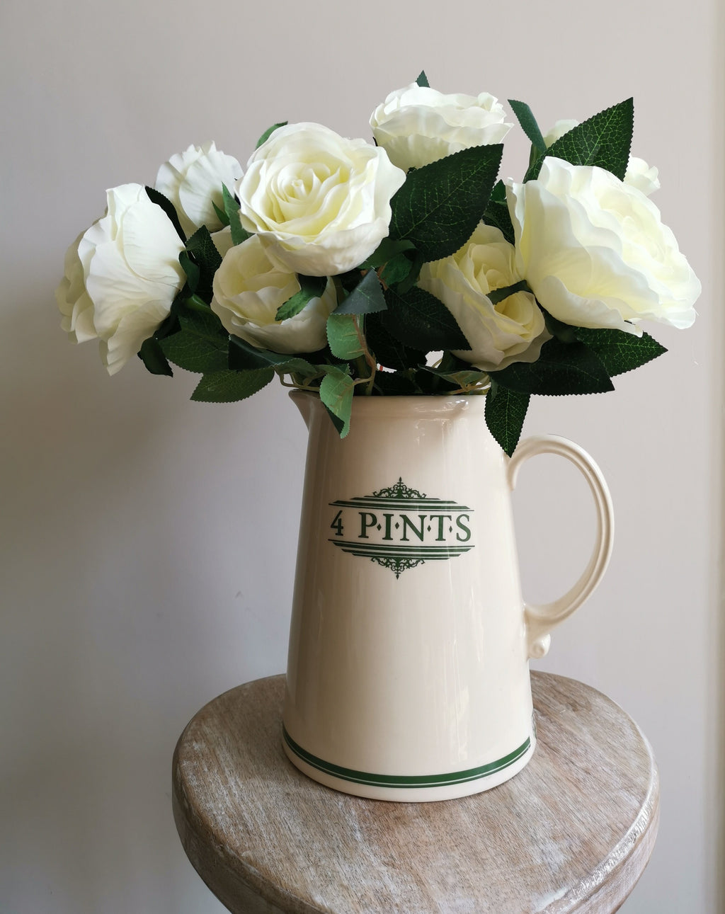 White Double Head Rose Bouquet - TBI