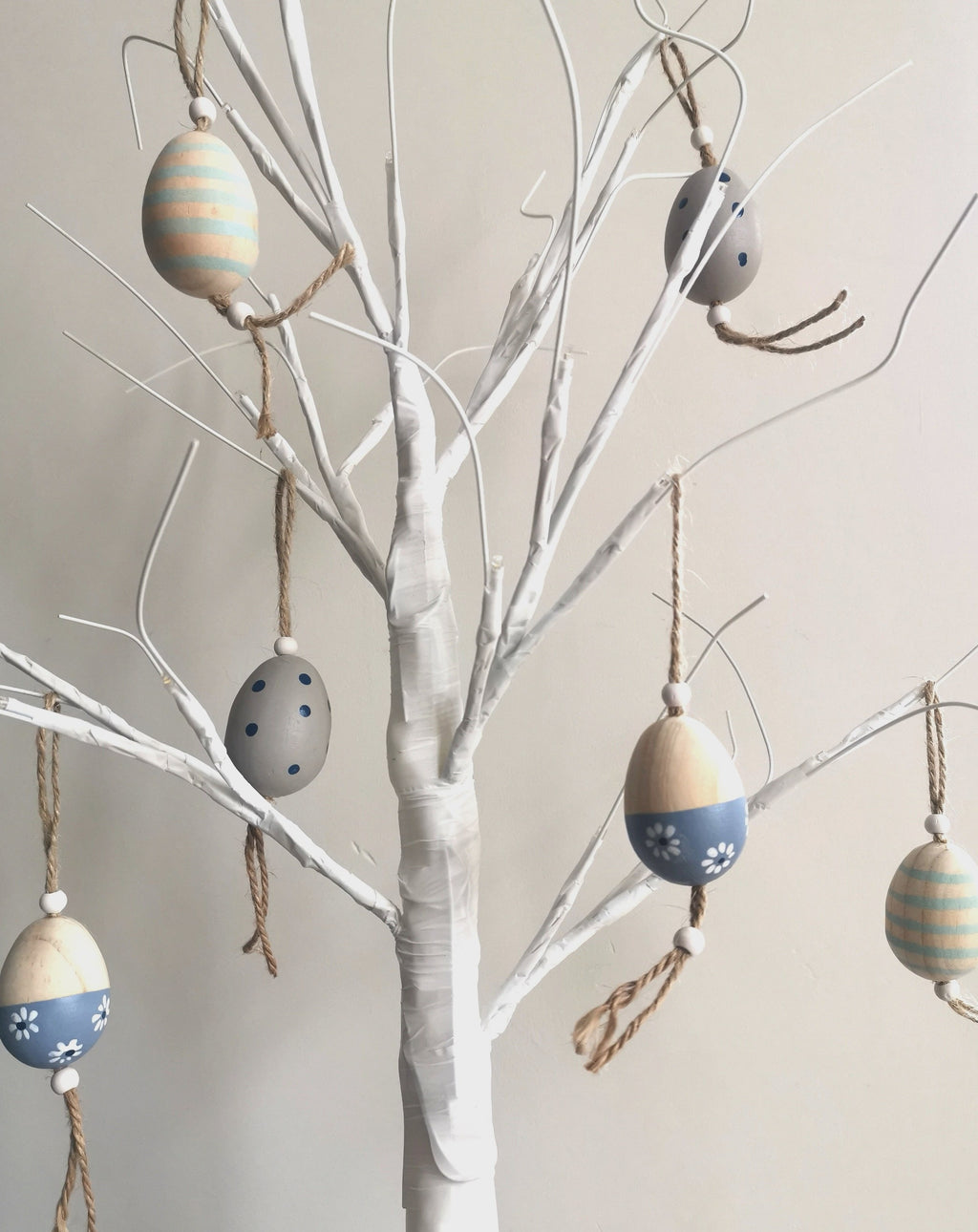 Wooden Decorative Hanging Eggs - The Burrow Interiors