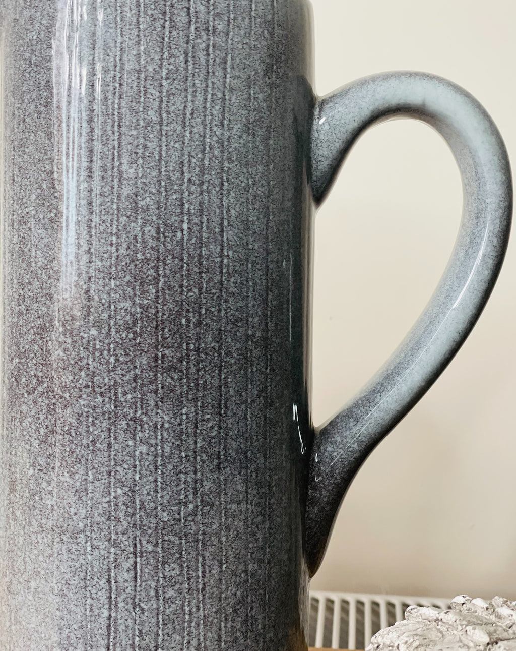 Grey Ceramic Tall Jug - TBI