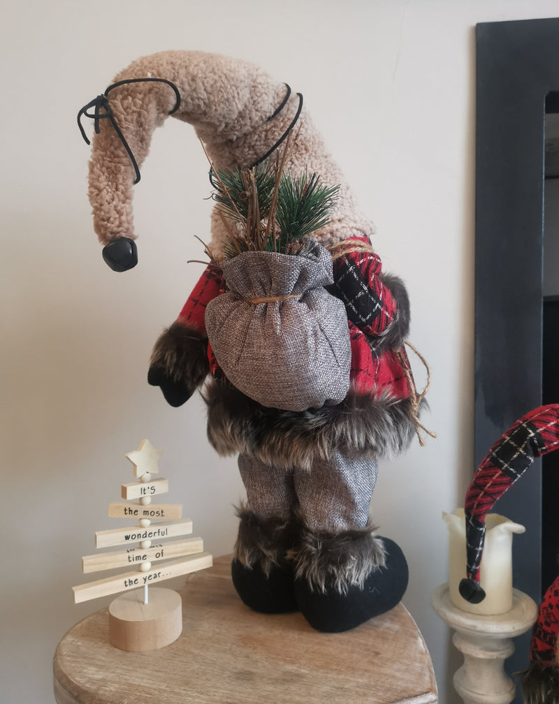 Large Furry Santa Decor - TBI