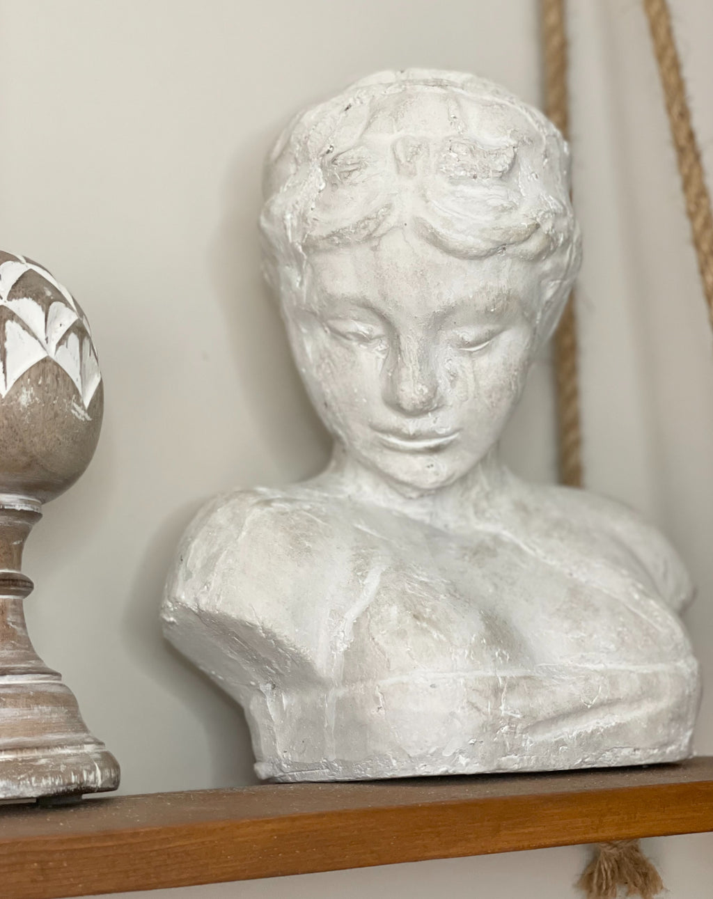Stone Lady Head Sculpture - TBI
