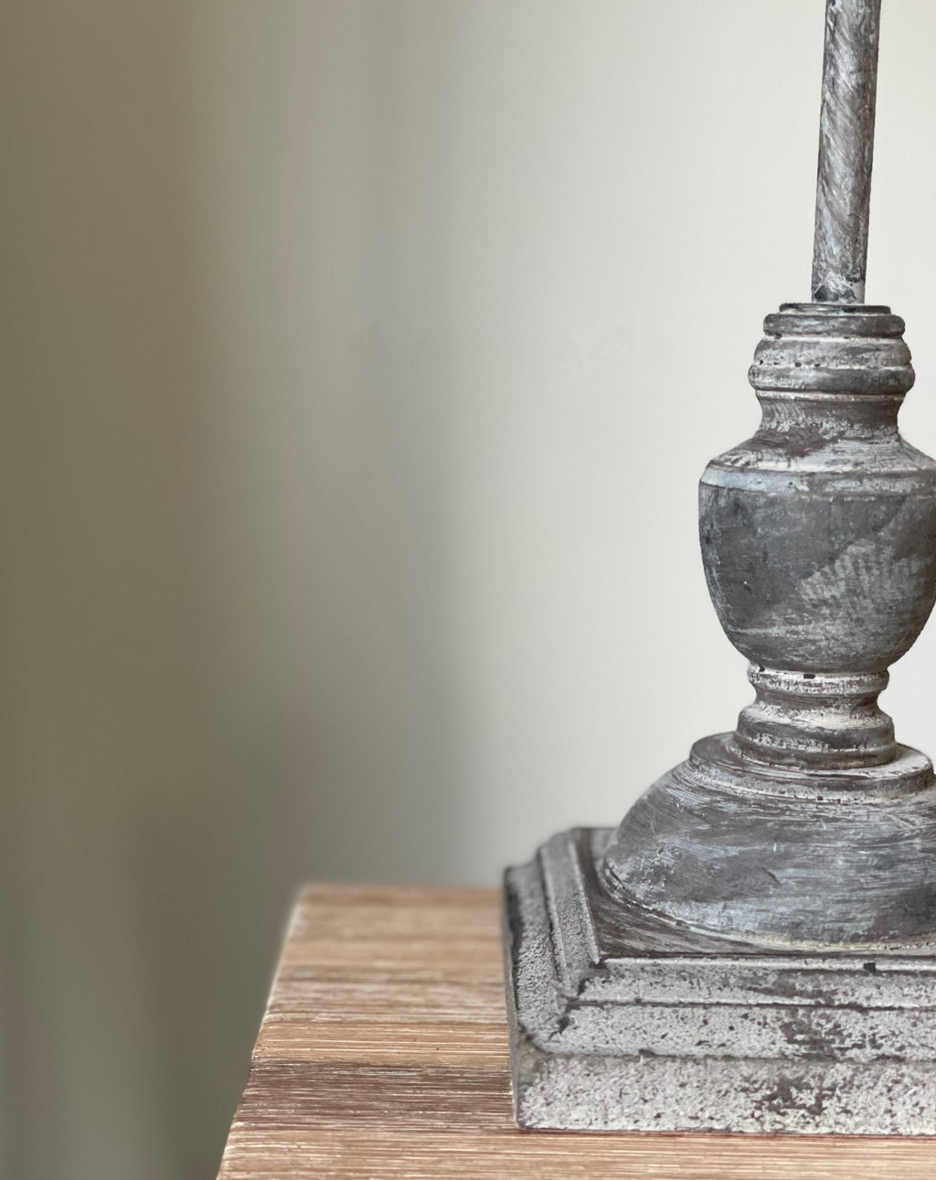 Antique Grey Table Lamp - TBI