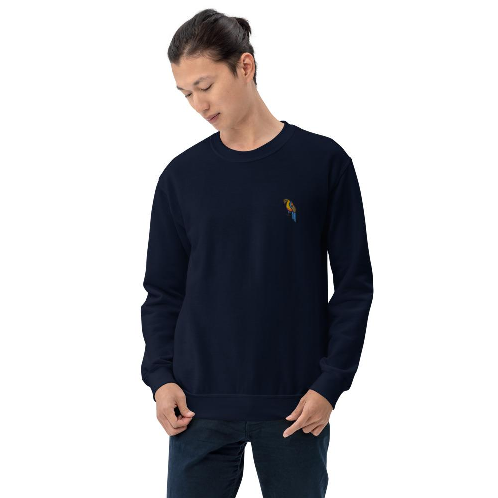 Jumpers & Sweatshirts - Embroidered Parrot