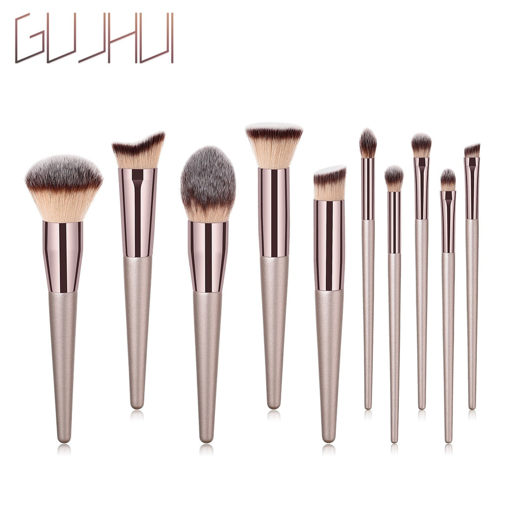 10PCS Nylon Makeup Brush Kit