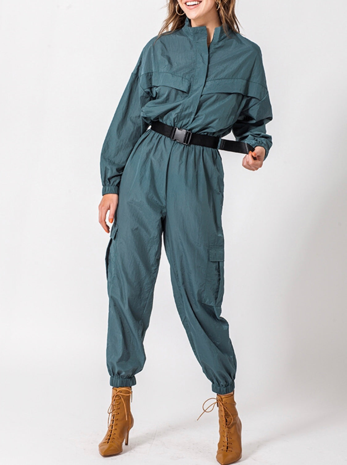 Girls Can Do It Better Windbreaker Jumpsuit