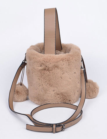 Bad and Bougie Faux Fur Hand Bag