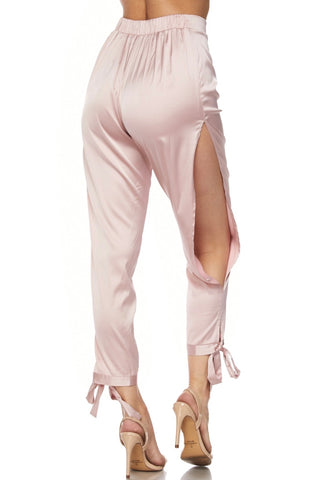 Tickle HER Pink Satin Pants