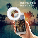 QIAYA Selfie Light Ring Lights LED Circle Cell Phone Laptop Camera WHITE