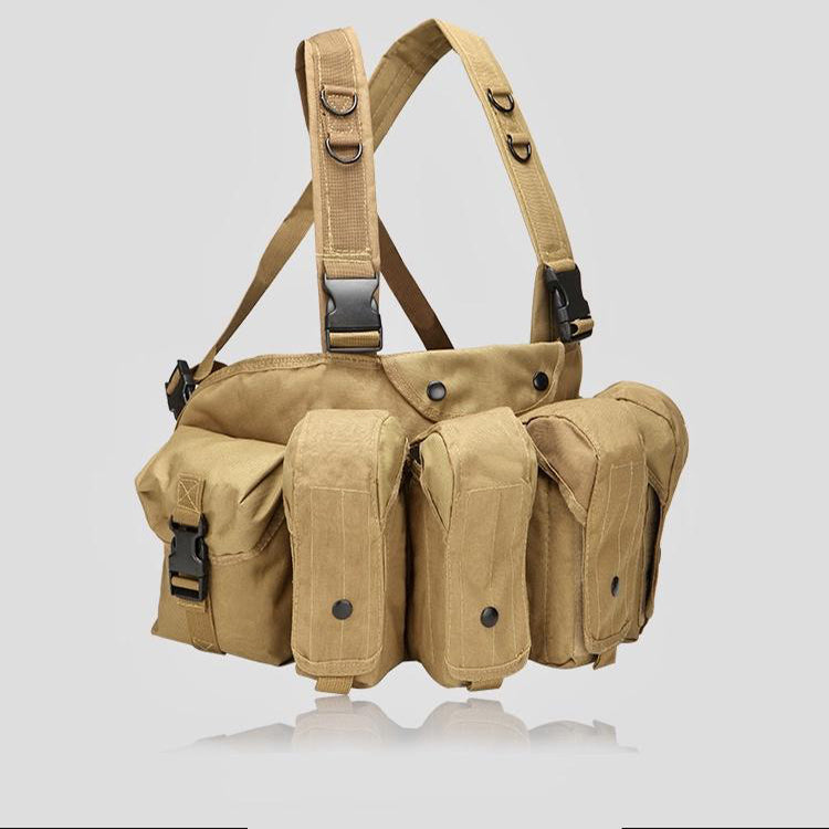EMPTACSPLY Universal AR AK Chest Rig, Coyote Brown, For Training, Hunting, Airsoft, Operation