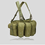 EMPTACSPLY Universal AR AK Chest Rig, OD Green, For Training, Hunting, Airsoft, Operation