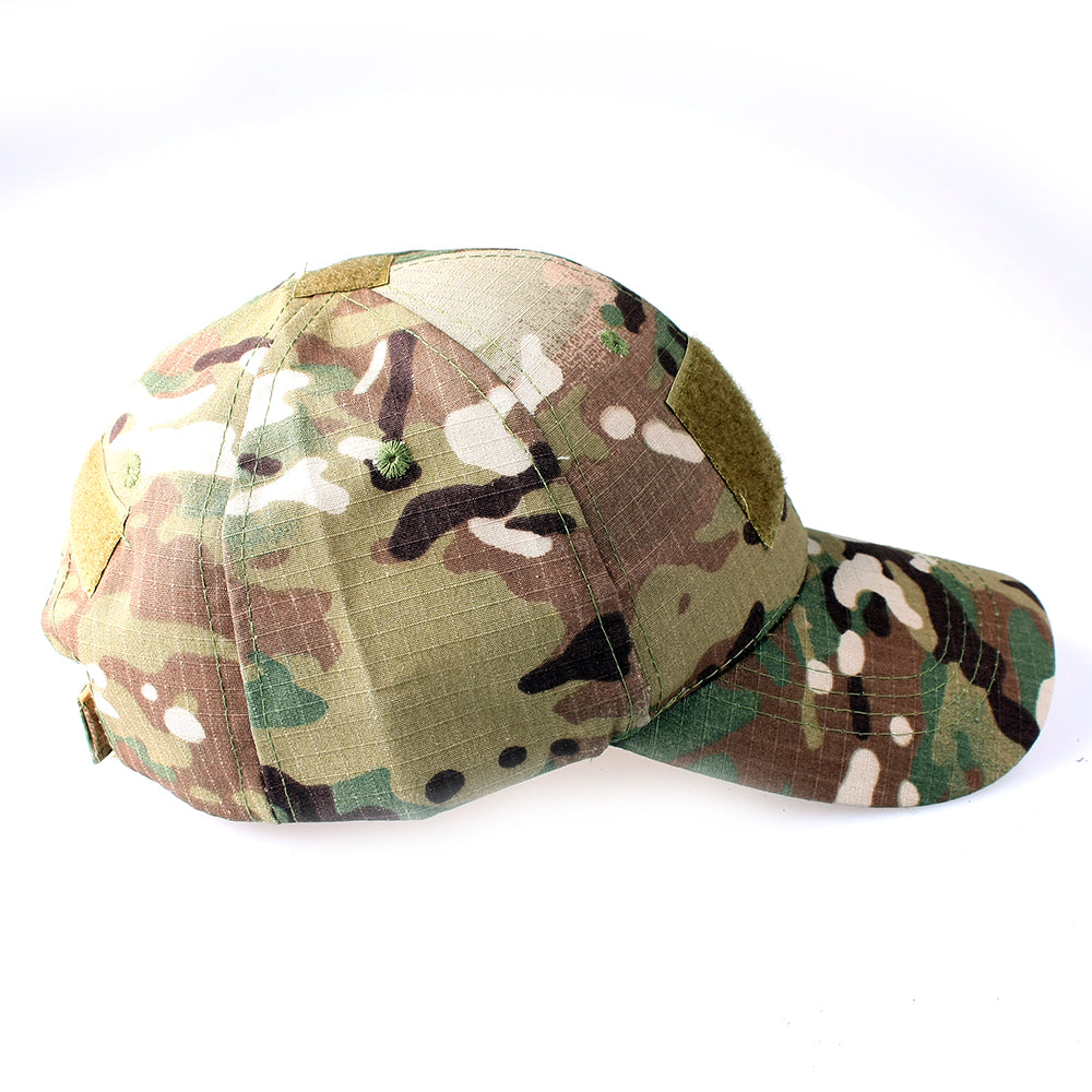 EMPTACSPLY Tactical Cap Bundle with USA Flag Patches, Durable Multicam Hat With Moral Patches