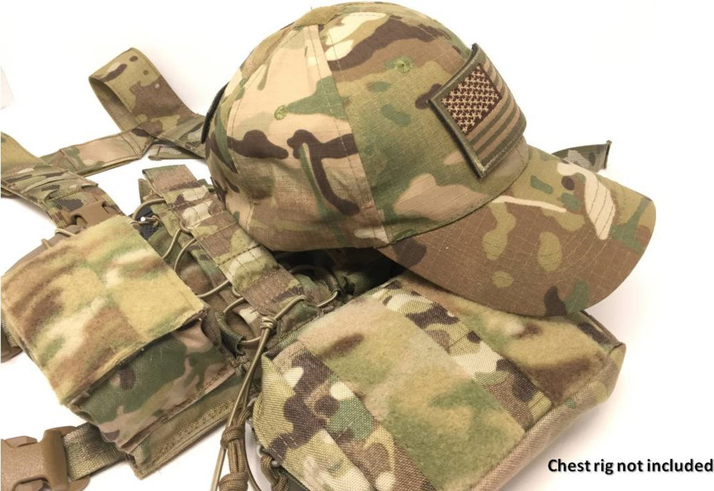EMPTACSPLY Mesh Tactical Cap Bundle with USA Flag Patches