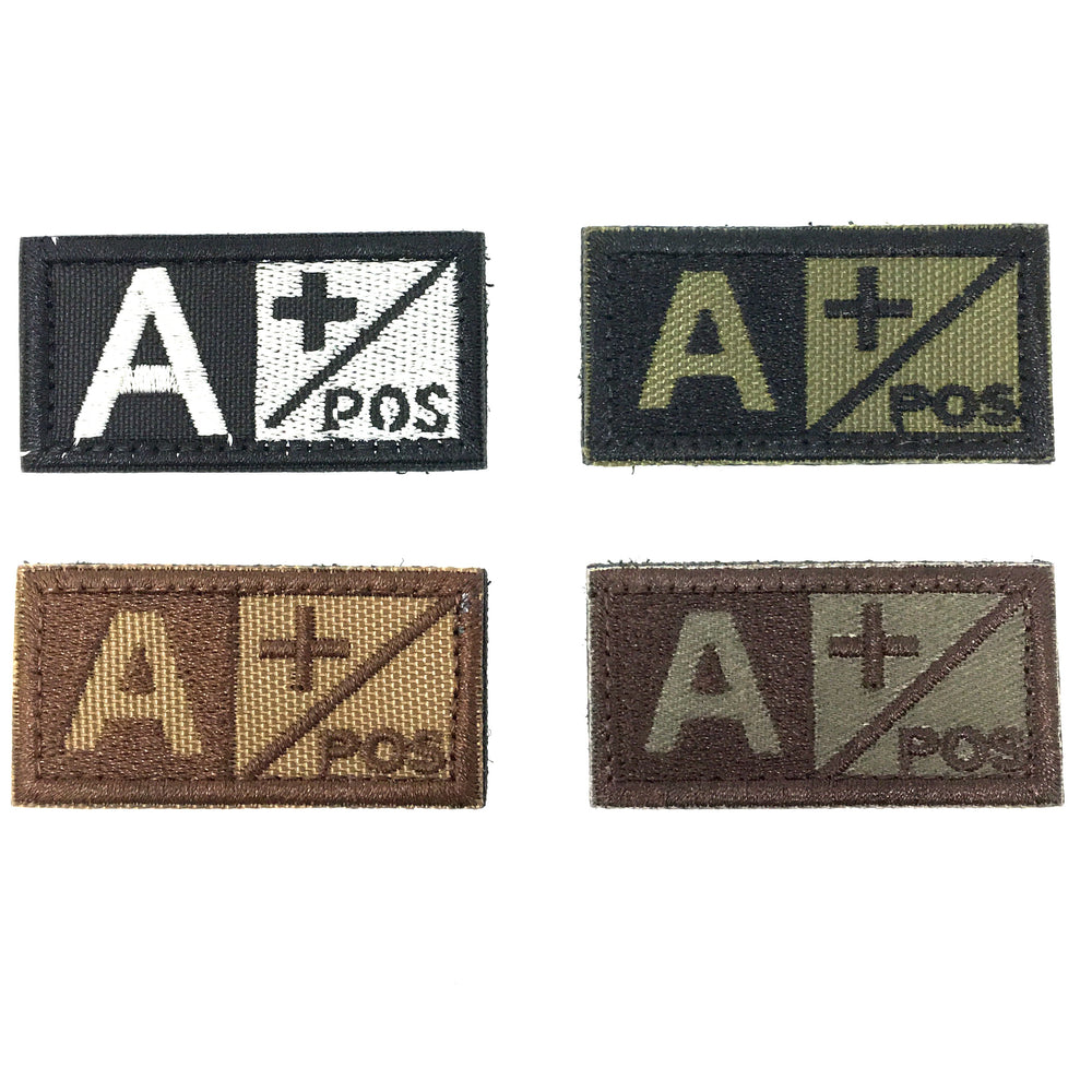 "EMPTACSPLY Tactical Blood Type Patch | ""A+"" Type A Positive 