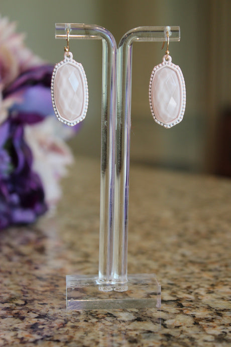 Inspired Classic Earrings - Baby Pink