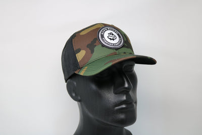 Camo Snapback Hat(Mesh Backing)