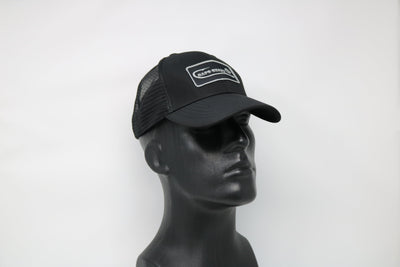 Custom Black Mesh Low Profile Trucker Hat