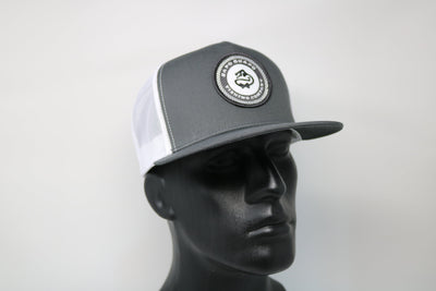 Grey Five Panel Snap Back