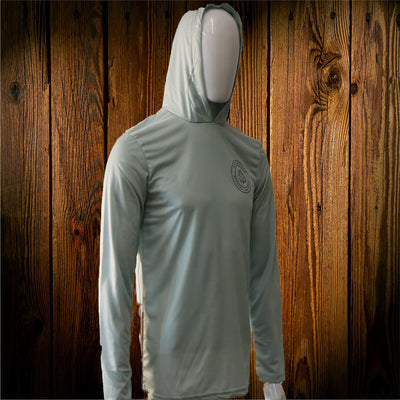 Seafoam Blue Rod Roulette Hooded Performance Shirt