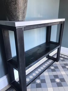 Simple Polished Concrete Console Table