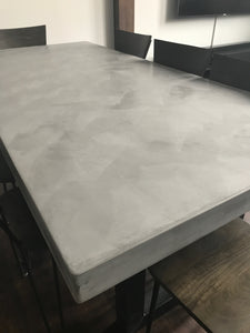Light Grey Polished Concrete Medium Dining Table