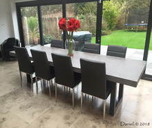 Large Polished Concrete Dining Table