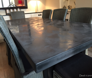 Charcoal Polished Concrete Dining Table
