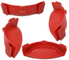 Salbree Clip-on Kitchen Food Strainer - Dark Red - salbree.com