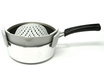 Salbree Clip-on Kitchen Food Strainer - Gray