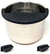 Salbree Silicone Clip N Strain, Vegetable and Ground Beef Grease Strainer for Instant Pot - Black 6 Qt - salbree.com