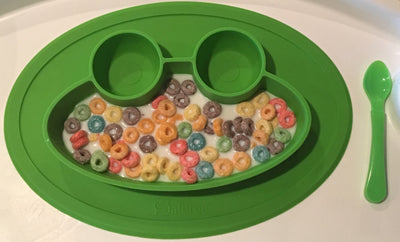 Salbree Round Silicone Frog Suction Placemat - Green - salbree.com