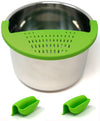 Salbree Silicone Clip N Strain, Vegetable and Ground Beef Grease Strainer for Instant Pot - Green 6 Qt - salbree.com