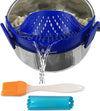 Salbree Clip-on Kitchen Food Strainer - Dark Blue