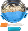 Salbree Clip-on Kitchen Food Strainer - Light Blue