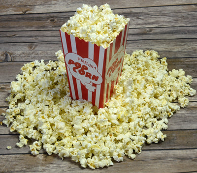 "110 Popcorn Boxes, 7.75"" Inches Tall and Holds 46 Oz"