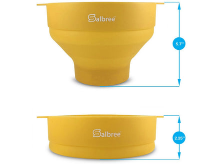 Salbree Microwave Popcorn Popper - Yellow - salbree.com