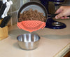 Salbree Clip-on Kitchen Food Strainer - Light Red - salbree.com