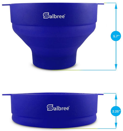 Salbree Microwave Popcorn Popper - Blue - salbree.com