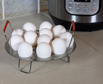 Salbree Stainless Steel Egg Steamer Rack and Trivet - 6 Quart