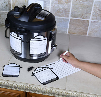 Instant Pot Accessories by Salbree, 5 Pcs Cheat Sheet Magnets Decals Cooking Times Accessory Set With Dry-Eraser Magnet and Magnetic Marker to Write Your Favorite Pressure Cooker Recipes - IP 3 quart - salbree.com