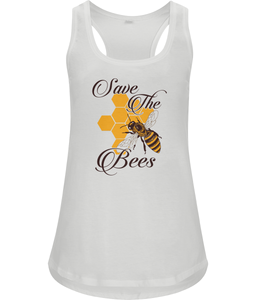 Save the Bees // Damen Racerback Tank Top