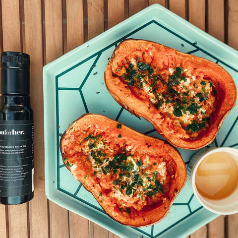 youforher roasted butternut squash with argan oil for cooking