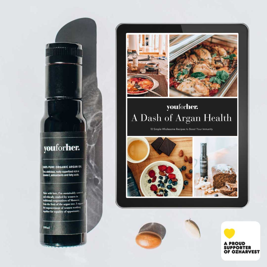 youforher argan oil foodie gift package with ozharvest
