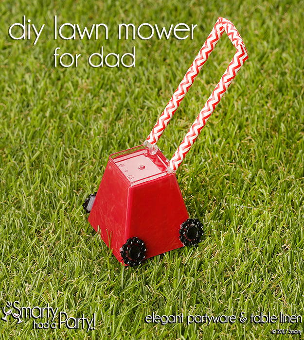 Make this DIY lawn mower for Father's Day to let him know you love him mower and mower each day! | SmartyHadAParty.com