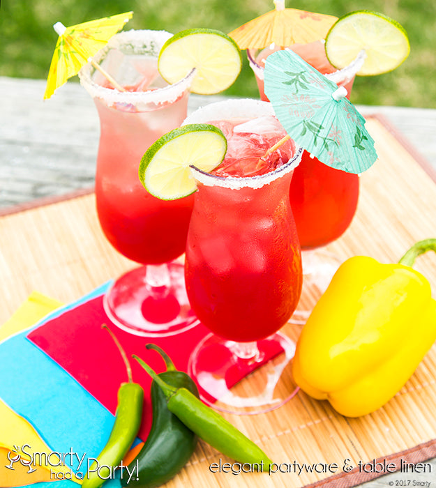 Take a trip abroad right in your backyard with this delicious prickly pear margarita. Learn how to make it on our blog. | SmartyHadAParty.com