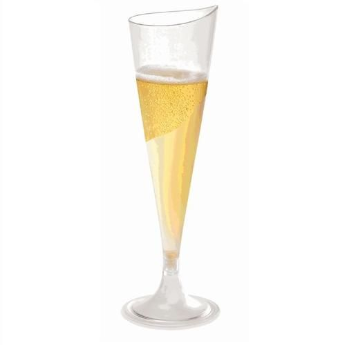 3.5 Ounce Onde HEAVY Plastic Champagne Flutes by Smartyhadaparty.com