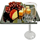 8.25inch Milan Black Cup Buffet Cocktail Plates