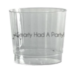 9 oz classic crystal plastic rocks glasses elegant disposable dinnerware party