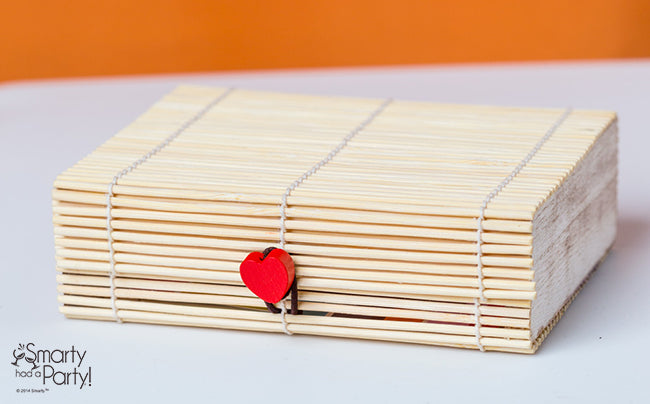 Place a cute bamboo gift box at each place setting with a note to the bridesmaid!   Smarty Had A Party