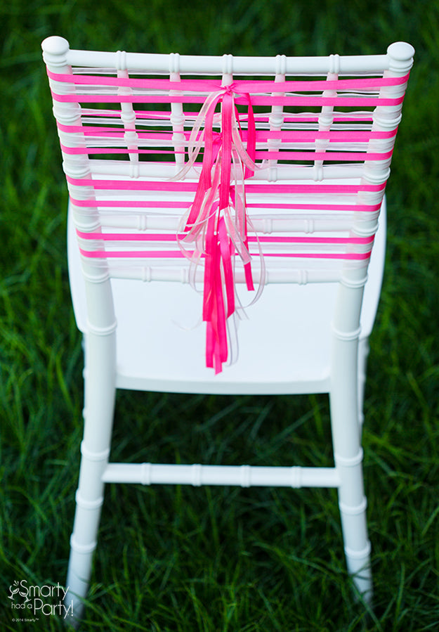 Corset Ribbon Chair decor | Smarty Had A Party